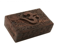 Wooden Tarot Box OHM
