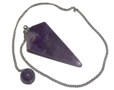 Faceted Pendulum - Amethyst