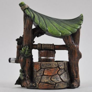 Wishing Well with Leaf Roof