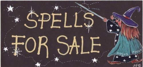 Witchy Sign - Spells for Sale