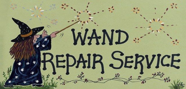Witchy Sign - Wand Repair Service
