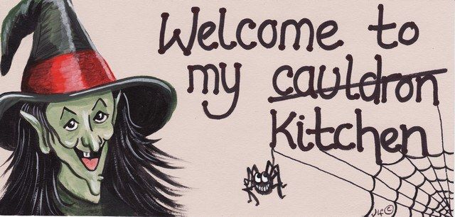 Witchy Sign - Welcome to My Cauldron Kitchen
