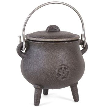 Cast Iron Cauldron with Pentagram (small)