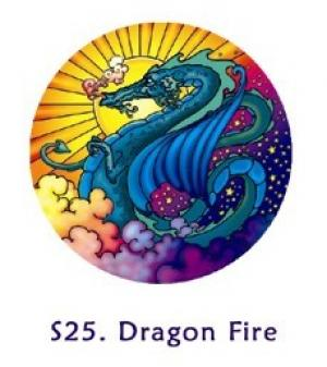 Window Sticker - Dragon Fire