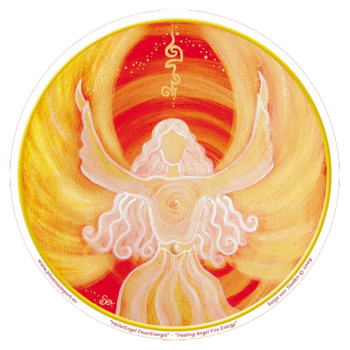 Window Sticker - Healing Angel Fire Energy