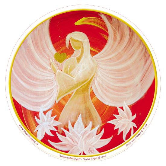 Window Sticker - Lotus Angel of Love