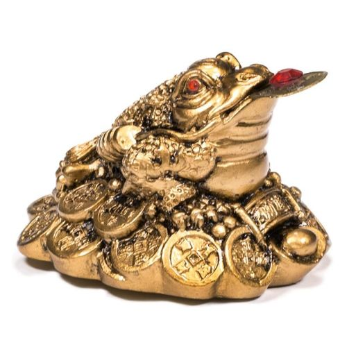 Mini statuette Feng Shui Frog/Toad - Gold