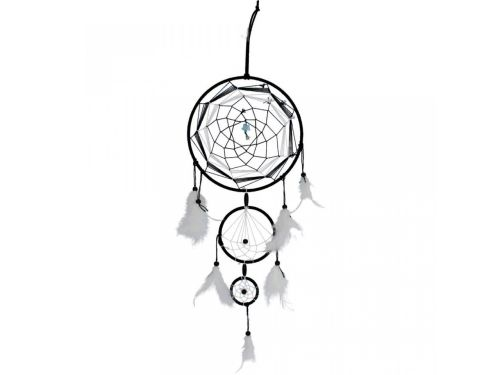 Spirit of Peace Black and White Dreamcatcher