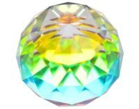 Rainbow Faceted Ball 60mm