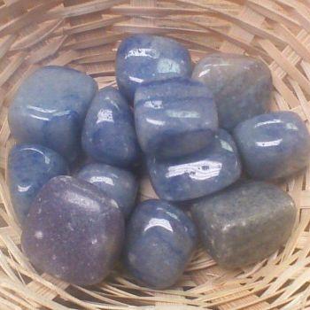 Tumblestone - Angelite with Dumortierite