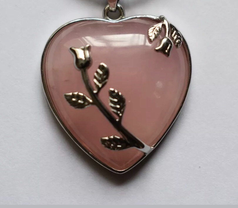 Rose Quartz - Heart Necklace
