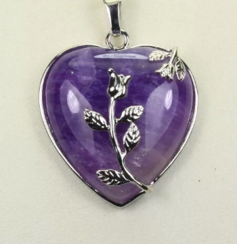 Amethyst - Heart Necklace
