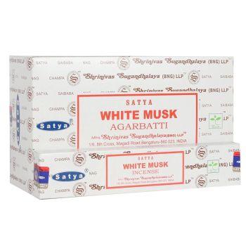 Satya - Musk, White Incense Sticks