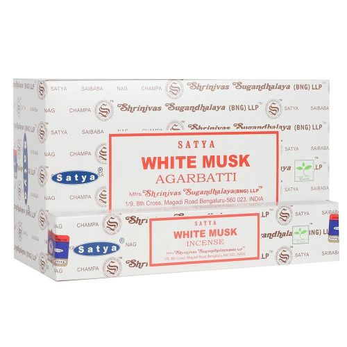 Satya - Musk, White Incense Sticks