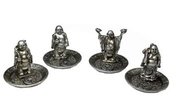 Incense Holder Buddha Silver