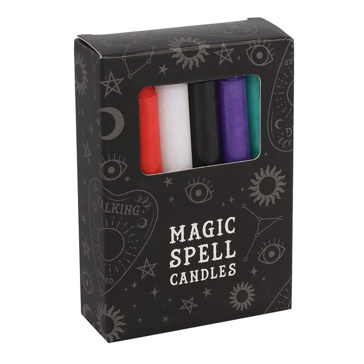Solid Colour Spell Candles - Mixed Box of 12 Random Colours