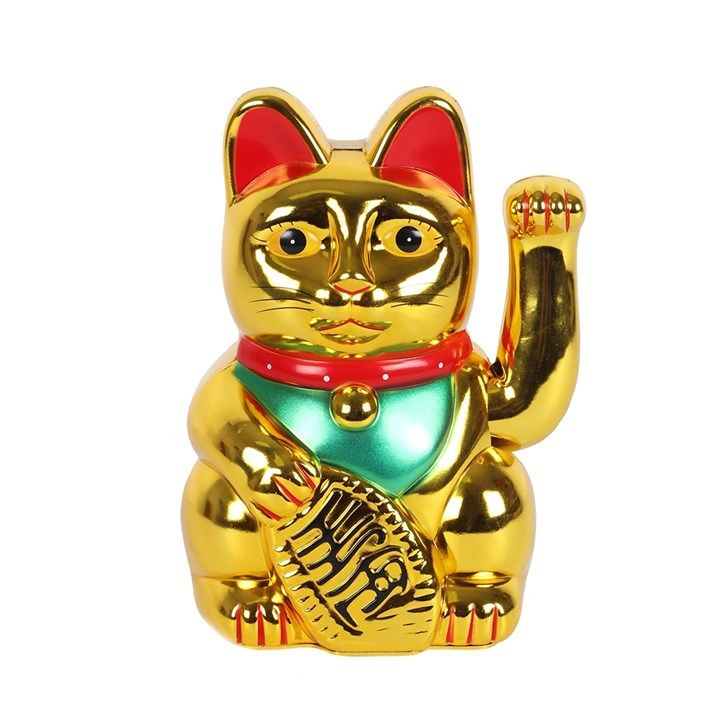 Maneki Neko Beckoning Money Cat - 15cm
