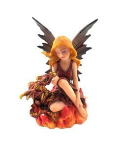 Fairy with Dragon - Companions of the Embers 9.8cm