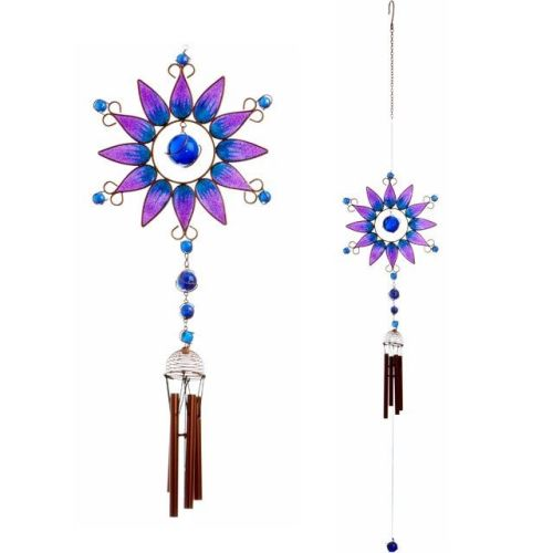 Purple Sunflower Windchime