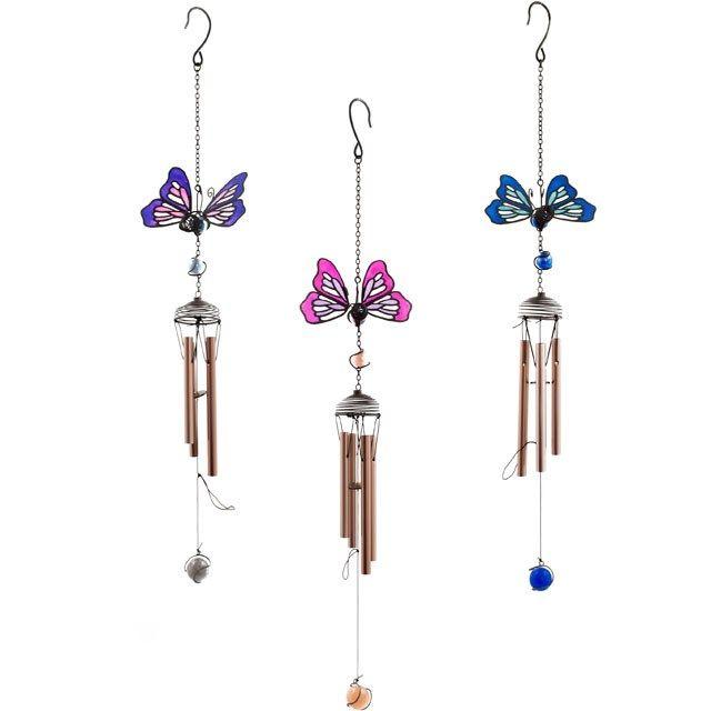 Butterfly Windchime - Pink