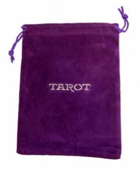 Tarot Bag - Embroidered 'Tarot' - 15cm x 20cm