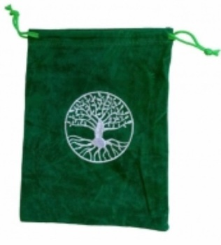 Tarot Bag - Embroidered Tree of Life - 15cm x 20cm