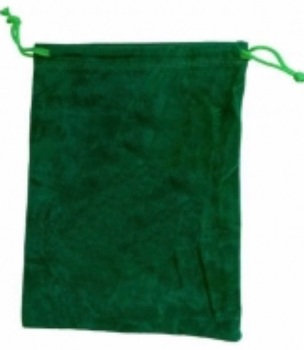 Tarot Bag - Plain Green - 15cm x 20cm