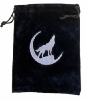 Tarot Bag - Embroidered Wolf - 15cm x 20cm
