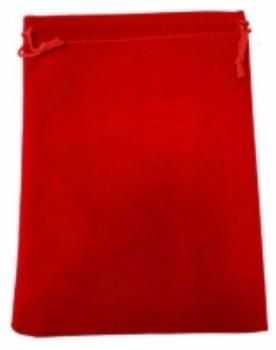 Tarot Bag - Plain Red - 15cm x 20cm
