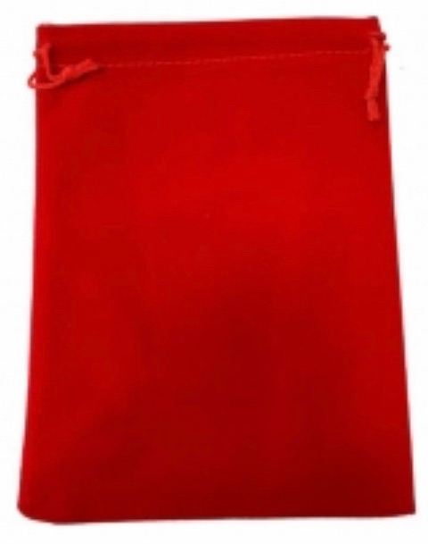Tarot Bag - Plain Red - 15cm x 20cm