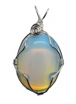 Opalite Moonstone Wired Oval Pendant