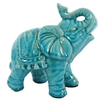 Elephant, Ceramic, Blue