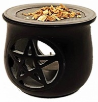 Incense Burner with Sieve - Pentagram