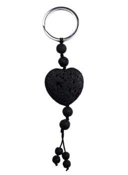 Lava Heart Diffuser Keyring