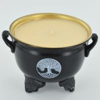 Cauldron Soya Wax Candle - Tree of Life