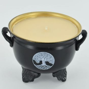 Cauldron Soya Wax Candle - Tree of Life