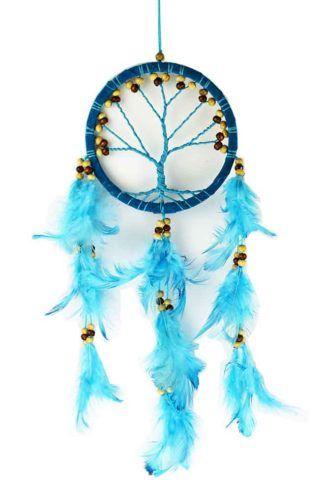 Tree of Life Dreamcatcher - Turquoise 12cm