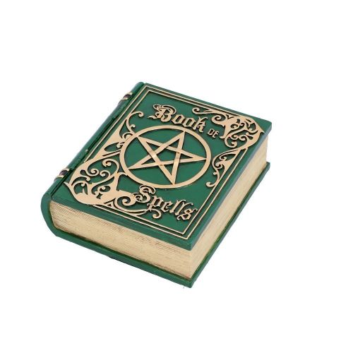 Book of Spells Box - Green 15.5cm