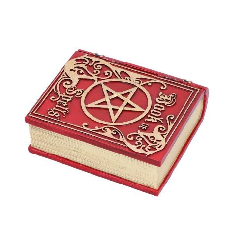 Book of Spells Box - Red 15.5cm