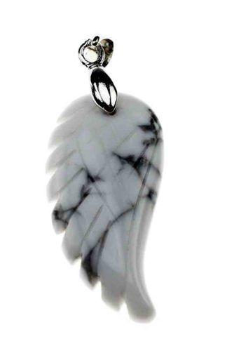 Howlite Wing Pendant