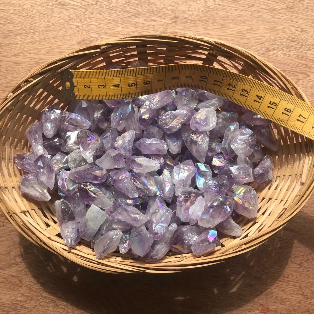 Raw Stone - Amethyst Aura, Small Point