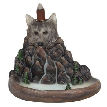Backflow Incense Burner - Wolf 16cm