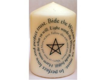 Candle - Wiccan Rede - 8 x 5.7cm - 15 hour