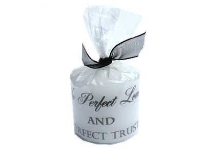Candle - In Perfect Love and Perfect Trust - 3.5cm