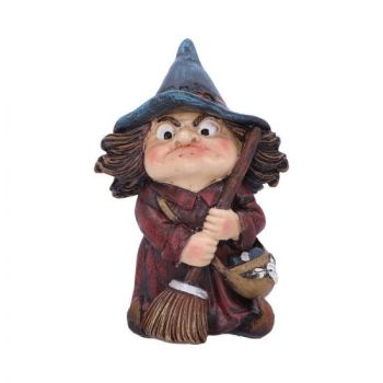 Witch and Broomstick Figurine -  Toil