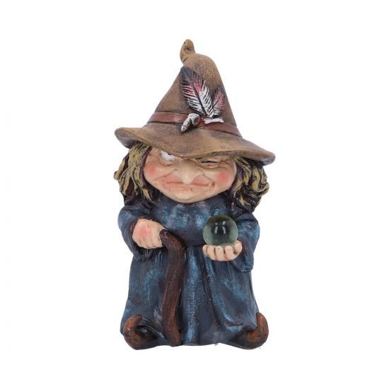 Witch and Crystal Ball Figurine - Trouble