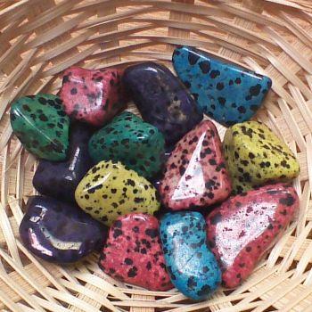 Tumblestone - Dalmation Stone, Coloured