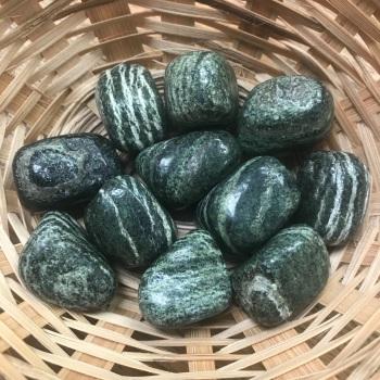 Tumblestone - Zebra Stone, Green