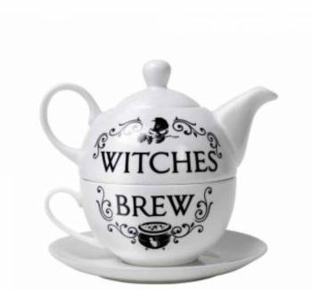 Tea Set - Witches Brew Tea Pot, Cup & Saucer