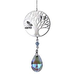 Tree of Life Crystal String with Rainbow Drop